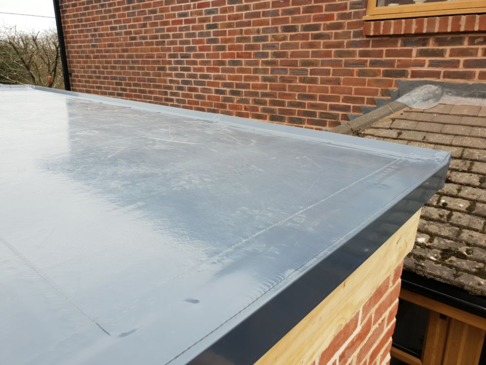 A flat roof that has been serviced by our trained professionals.